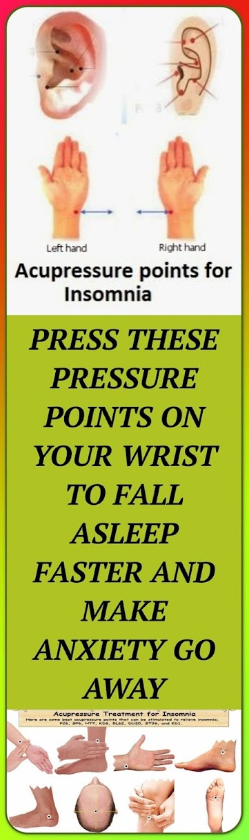 Press These Pressure Points On Your Wrist To Fall Asleep Faster And Make Anxiety Go Away