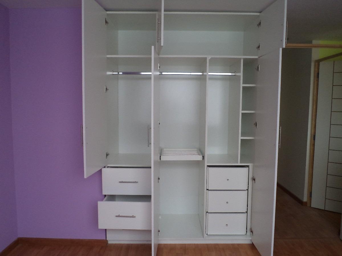 E y g proyectos integrales muebles en melamina aluminio for Modelos de closets para dormitorios