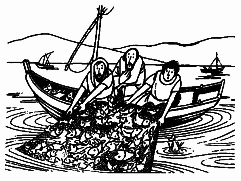 fisherman bible coloring pages