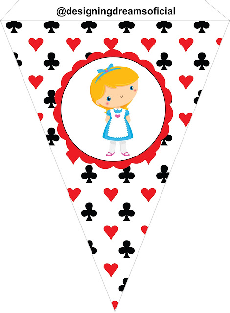 Alice Baby: Free Printable Banners and Cones.