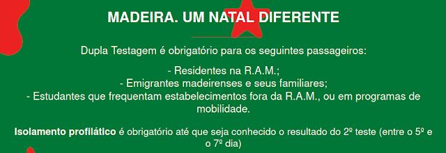 https://covidmadeira.pt/ - CONDIÇÕES PARA O SEGUNDO TESTE