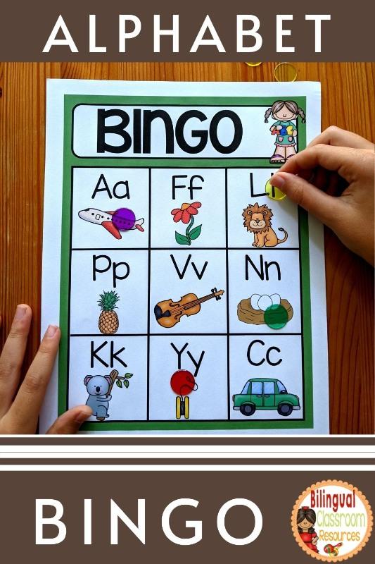 Alphabet Bingo In Spanish I El alfabeto I Bingo del alfabeto I El abecedario