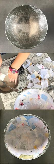 étapes de fabrication du papier maché naturel