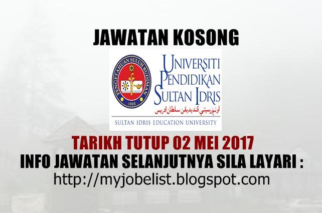 Jawatan Kosong Terkini di UPSI Mei 2017