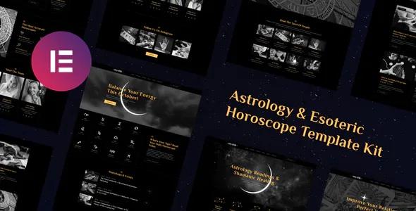 Best Astrology & Esoteric Horoscope Elementor Template Kit