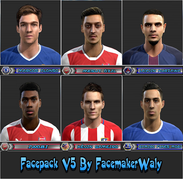 PES 2013 Facepack V5 By FacemakerWaly