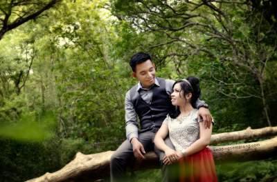 Hutan Tinjomoyo dapat digunakan sebagai view Foto Pre-wedding