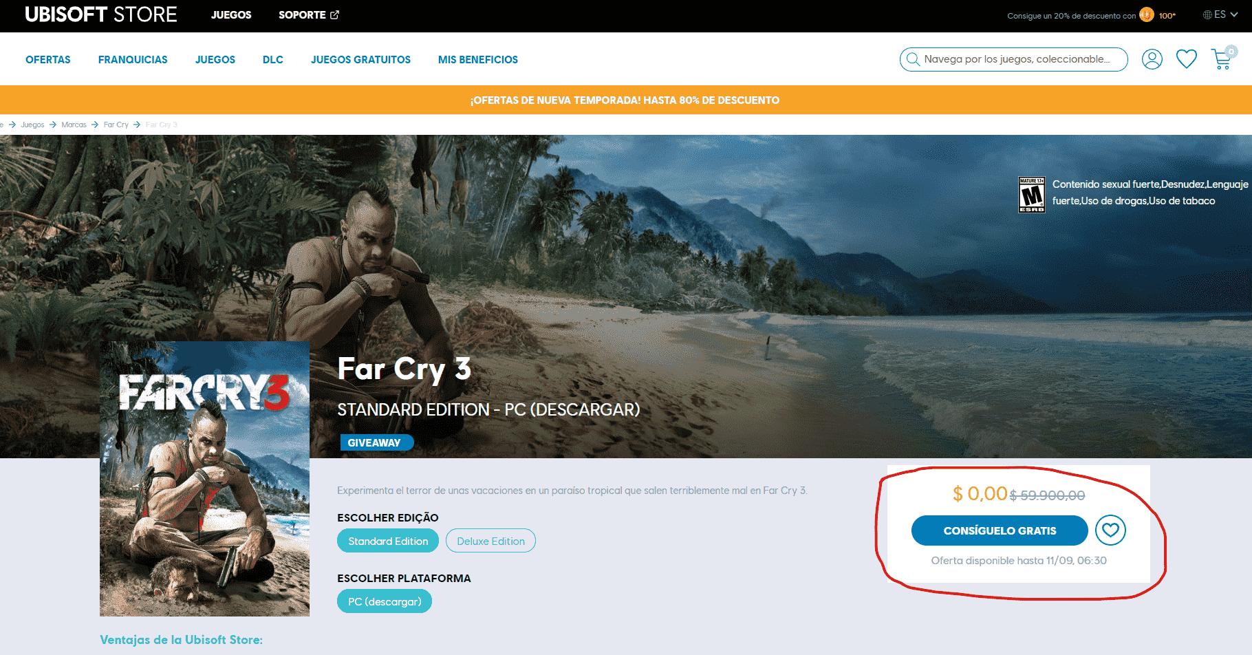 Far Cry 3 es GRATIS para PC en Ubisoft Connect Ver Como Descargar