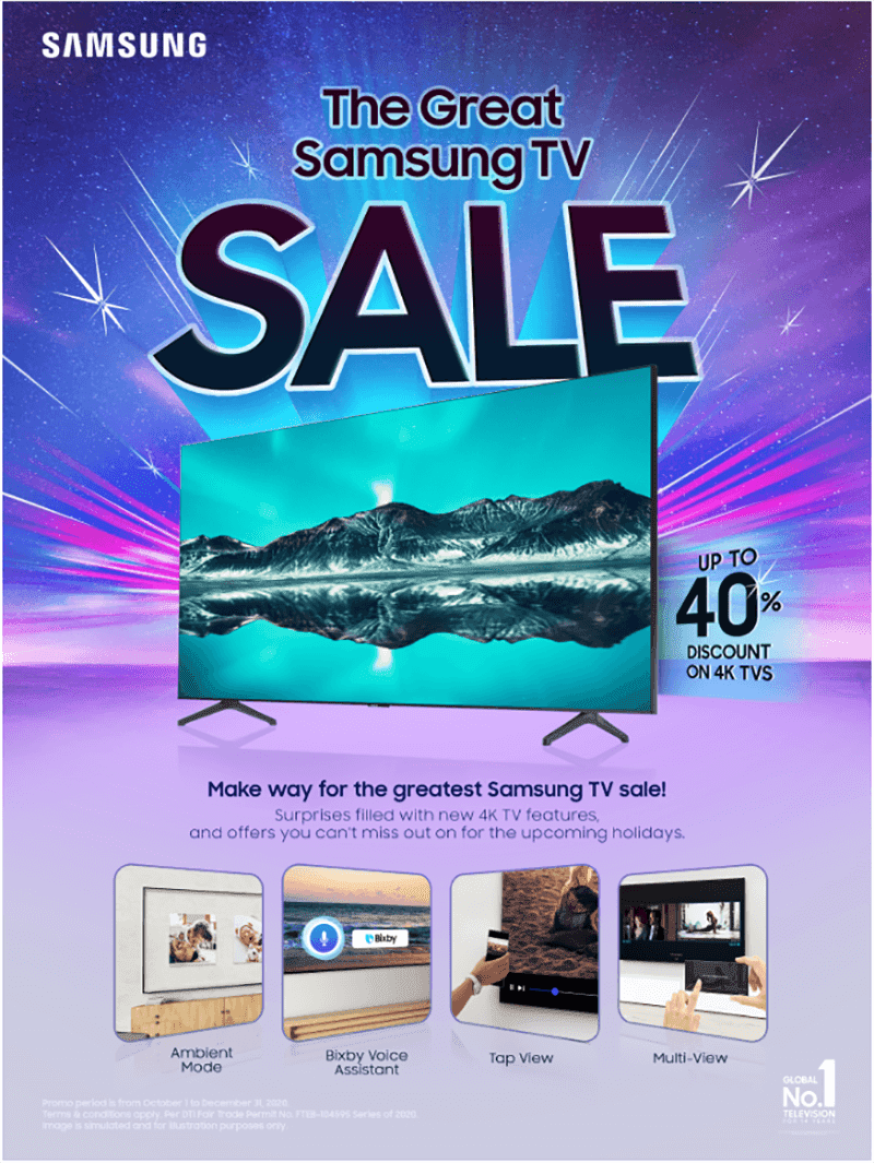 Get up to 40 percent off Samsung 4K TVs