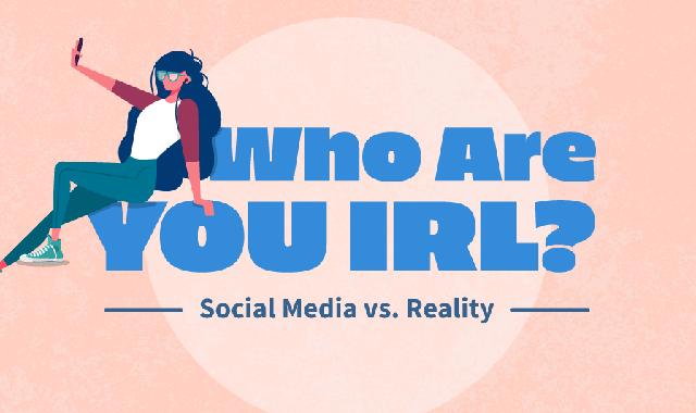 Social Media vs. Reality #infographic