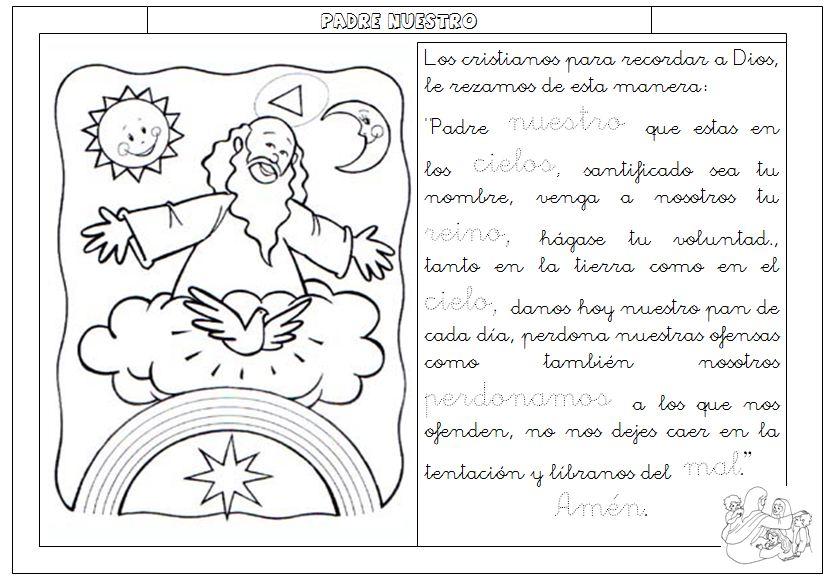 Catequesis Primera Unia N El Credo Para Colorear Espagnol: CATOLISTECH: El Padrenuestro, Desglosado En El Sentimiento