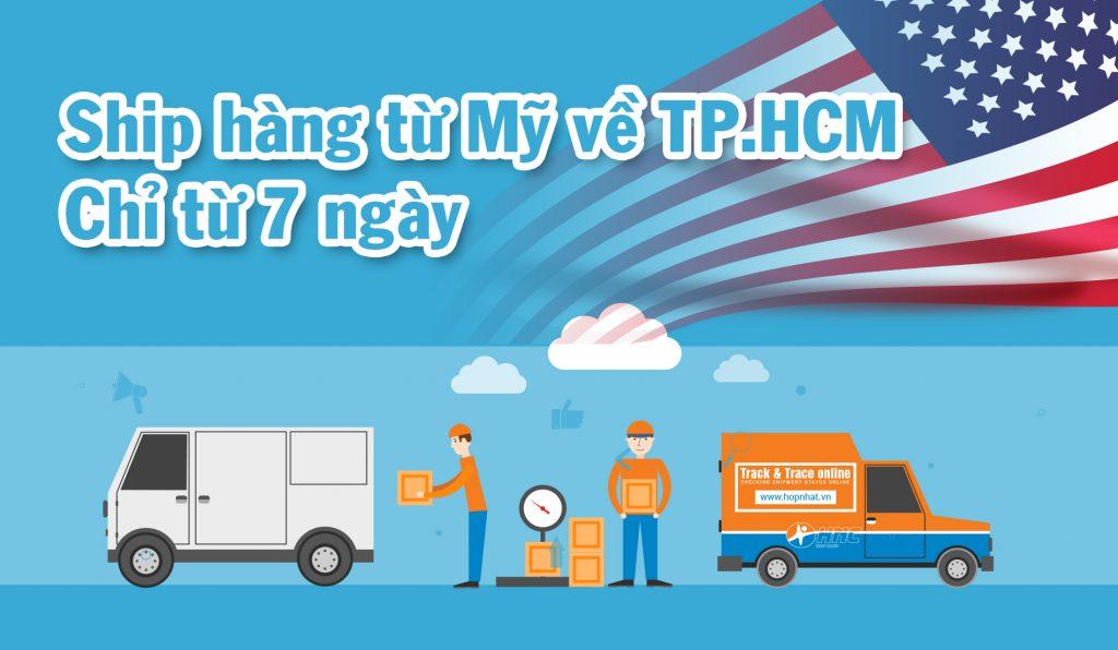 Thực hư việc ship hàng từ Mỹ về TP.HCM chỉ từ 7 ngày