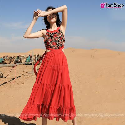 Váy maxi đi biển V276