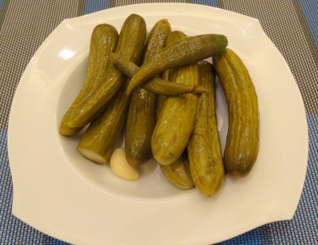 Cucumber Pickles in a Serving Dish
