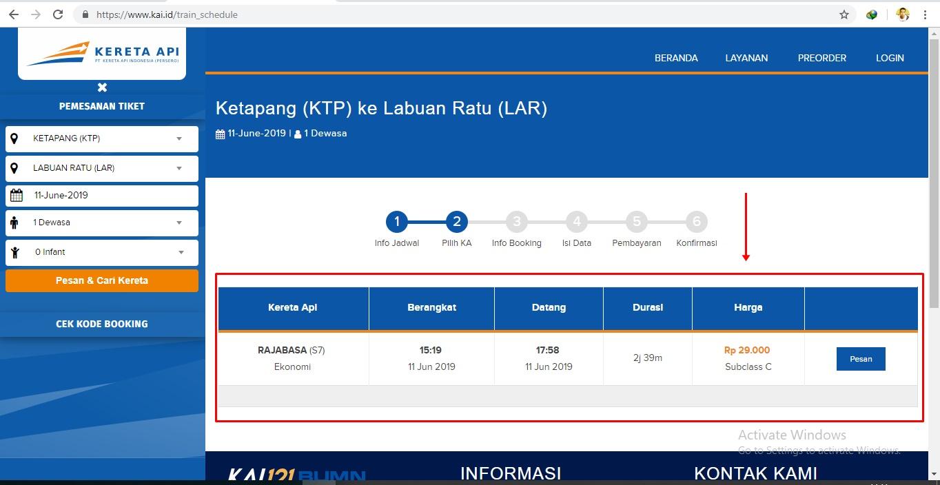 Cara Cek Harga Tiket Kereta Api Secara Online Melalui Situs Resmi Pt