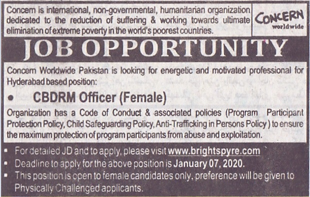 A Concern Non-Government Organization (NGO) Jobs 2020