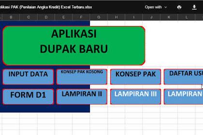 Aplikasi PAK (Penilaian Angka Kredit) Excel Terbaru