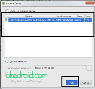 Choose running device Android Studio