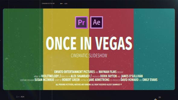 Cinematic Slideshow | Once In Vegas| Premiere pro free templates