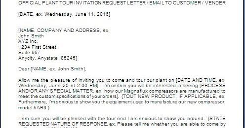 Plant Visit Request Letter