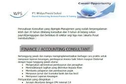 Lowongan Kerja PT Widya Presisi Solusi Finance dan IT Consultant