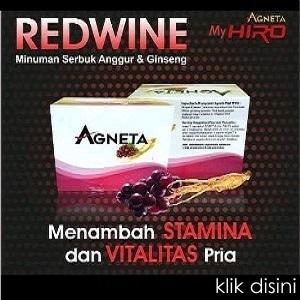 AGNETA RED WINE, Obat Kuat Alami