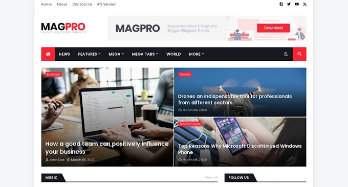 Review tentang Magpro Blogger Template
