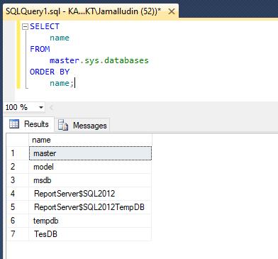 Create Database SQL