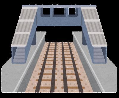 跨線橋のイラスト