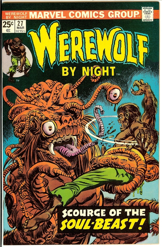 Portada de Werewolf by Night #27, obra de Gil Kane y Tom Palmer
