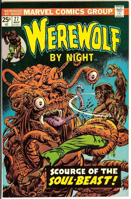 Portada de Werewolf by Night #27, obra de Gil Kane y Tom Palmer