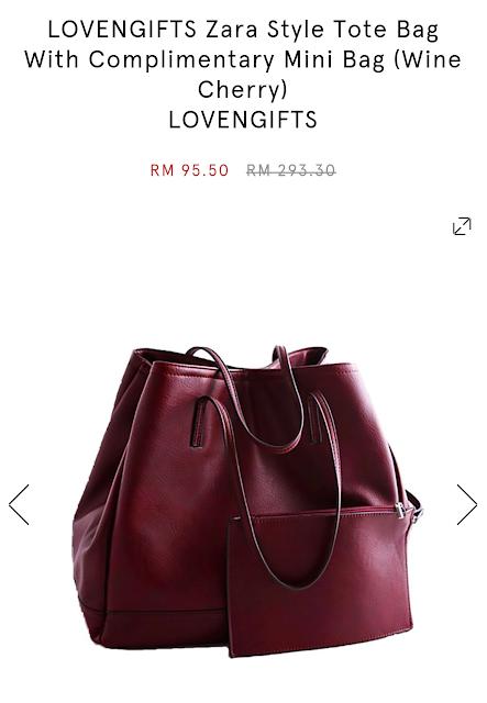 Handbag Zalora Memang Mengoda...Boleh Buat Hadiah Giveaway Akan Datang