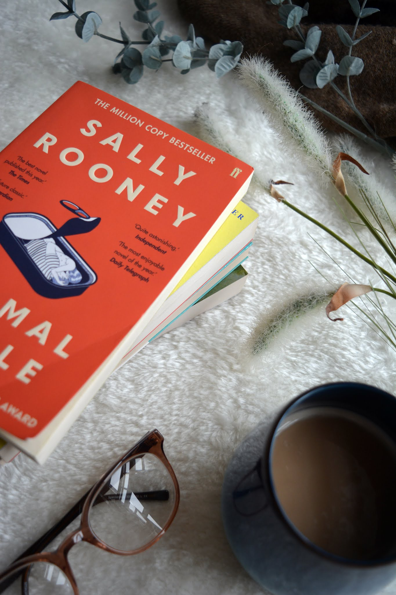 picture of normal people by Sally Rooney with red cover