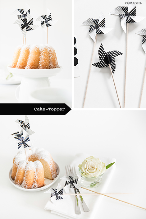 Cake-Topper selber machen - Tischdeko