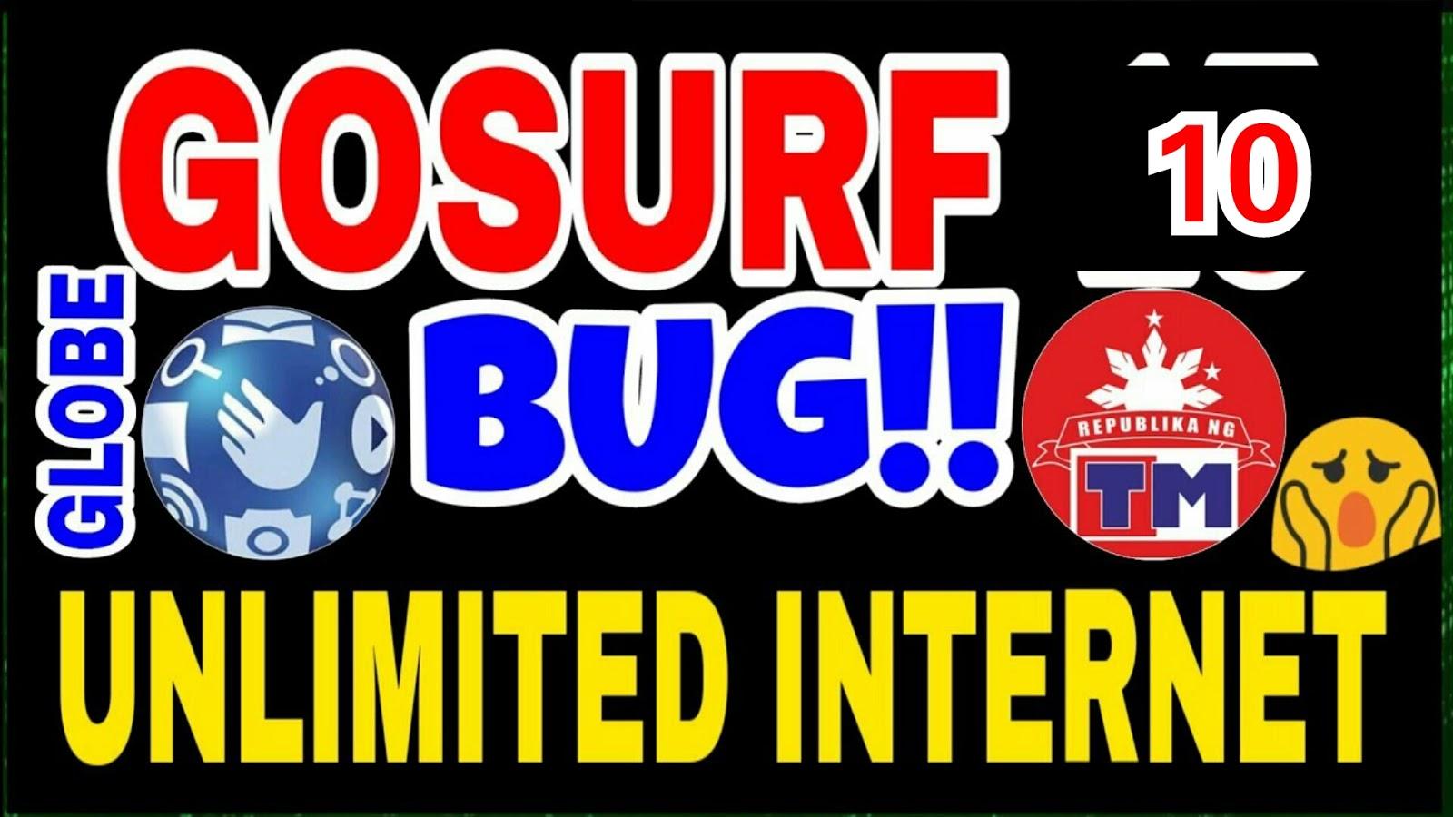 Globe & TM Gosurf Bug January 13, 2019 Update - Free Internet
