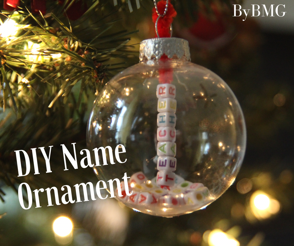 Bybmg Dollar Tree Diy Name Ornament