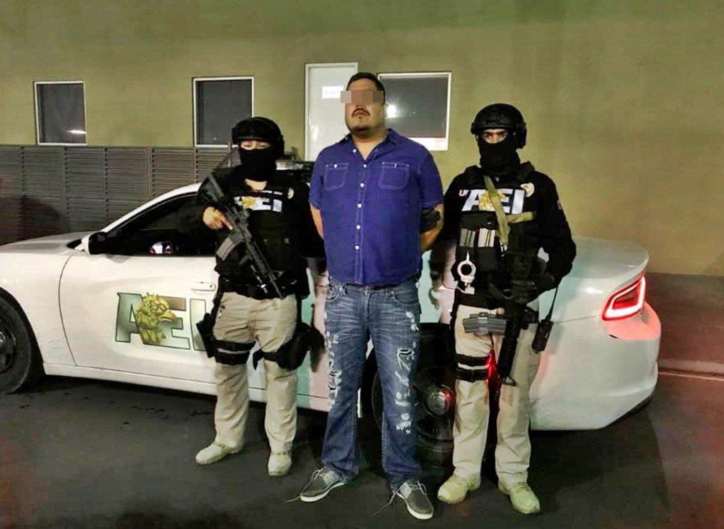 """Policía Federal captura a """"La Yegua"""", jefe operativo del Cártel del Golfo en Monterrey."""