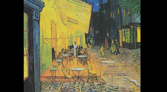 Kafe Terasta Gece Resim Tablosu Hakkında Bilgi