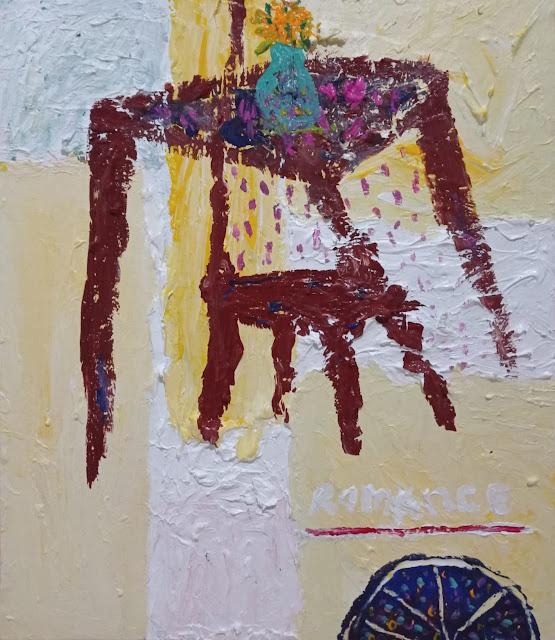 Foto : Lukisan genre Naivism berjudul Romance karya Phalonk