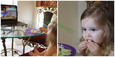 eating cucumbers with Copy-Kids