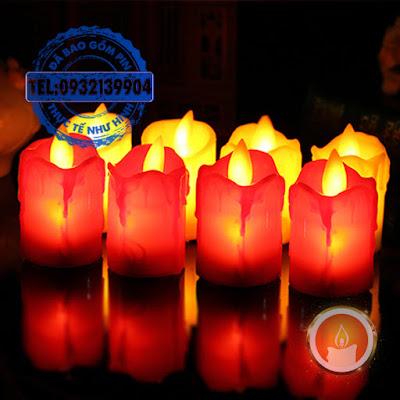 Đèn cầy pin tim lắc lư mini