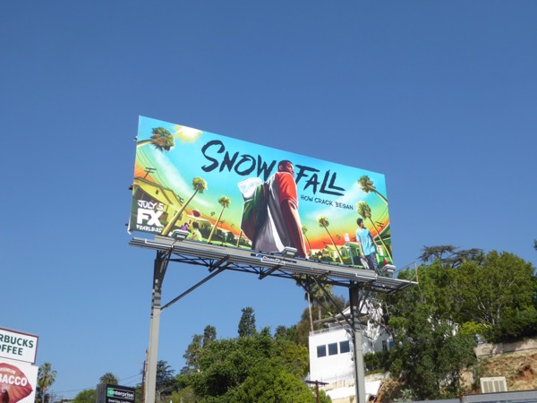 Snowfall series launch billboard