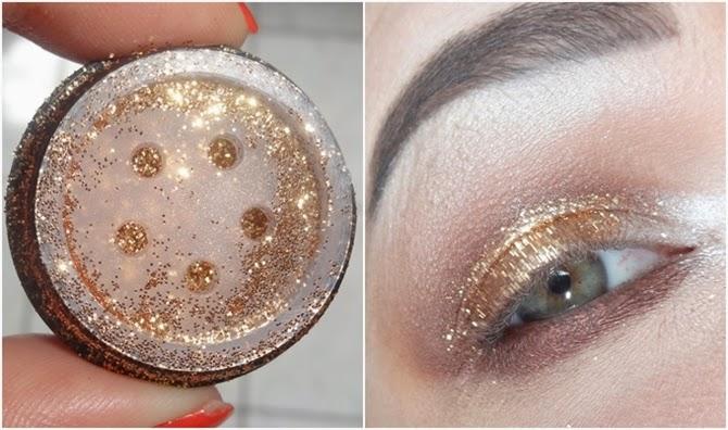 Tutorial Maquiagem dourado paleta Starry Eyes da Kat Von D glitter dailus