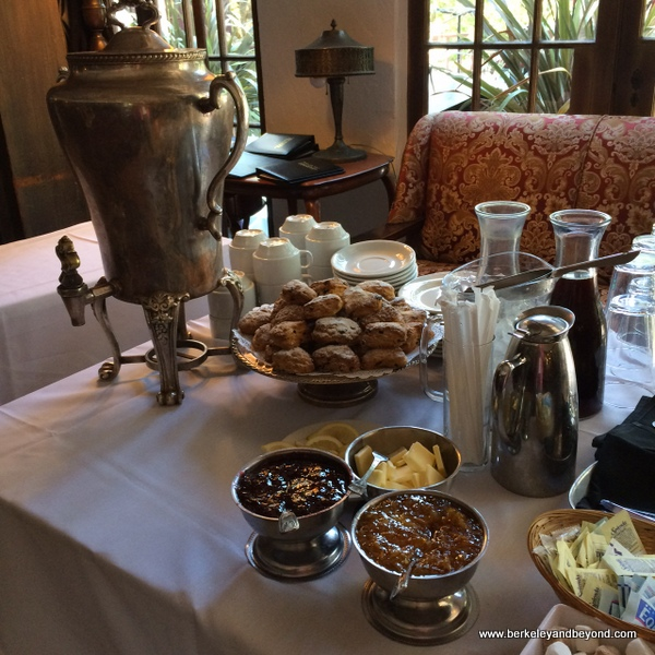 afternoon check-in tea at Benbow Historic Inn in Garberville, California