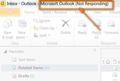 Outlook Not Responding – 2007, 2010, 2016, 2015 Windows 10