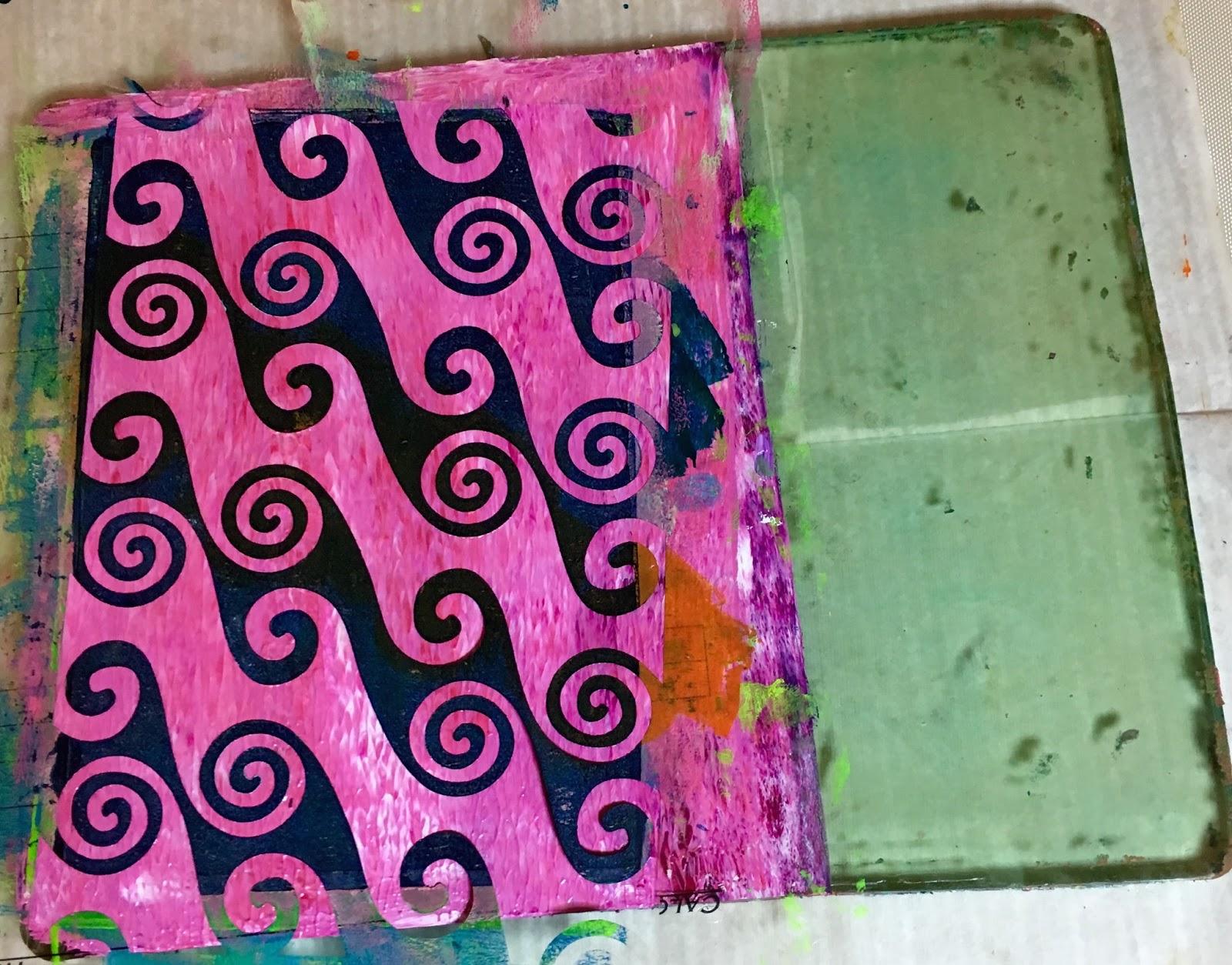 florence turnour s blog keeping cards clean while gelli printing
