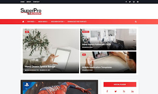 SuperPro - Responsive Magazine Blogger Template