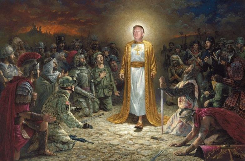 Dios Emperador Trump, yo te re banco