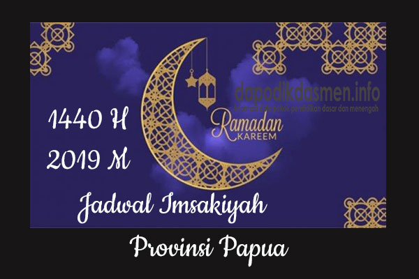 Jadwal Imsakiyah Ramadhan Provinsi Papua