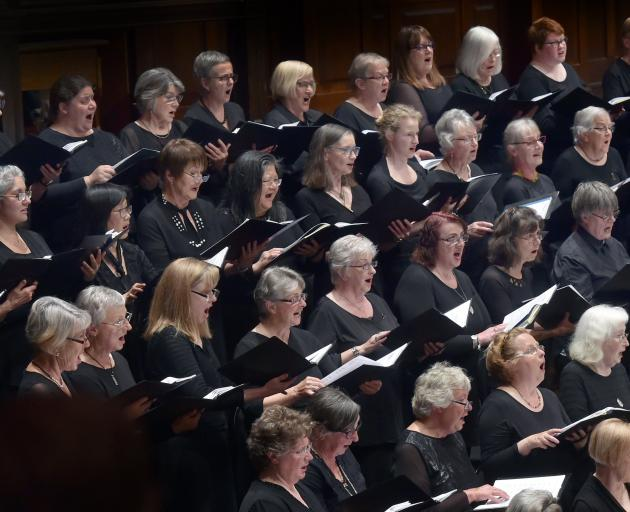 City Choir Dunedin sings Rejoice! Photo: Peter McIntosh (ODT).